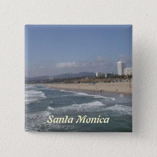Santa Monica, California 2 Inch Square Button