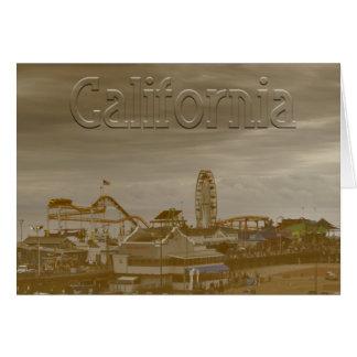 Santa Monica California Card