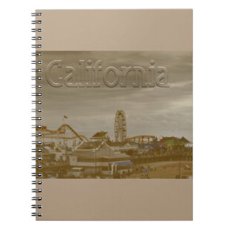 Santa Monica California Spiral Notebook