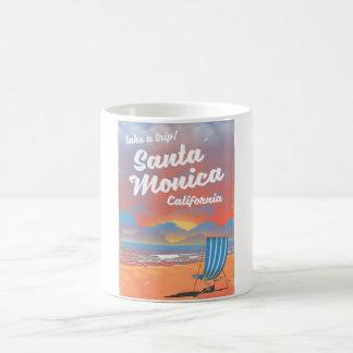 Santa Monica California vintage beach poster Coffee Mug