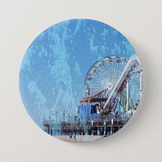 Santa Monica Pier 3 Inch Round Button