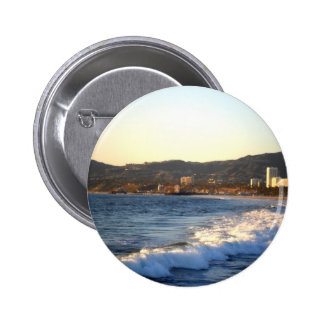 Santa Monica Pier as seen from Venice Beach 2 Inch Round Button