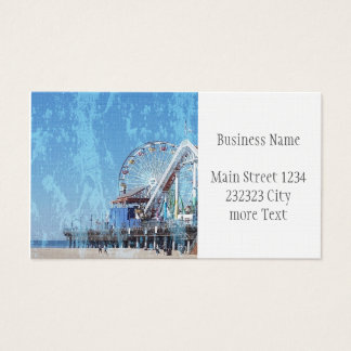 Santa Monica Pier Business Card
