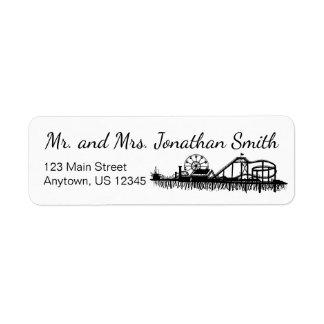 Santa Monica Pier California Travel Personalized Return Address Label