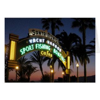 Santa Monica Pier Card