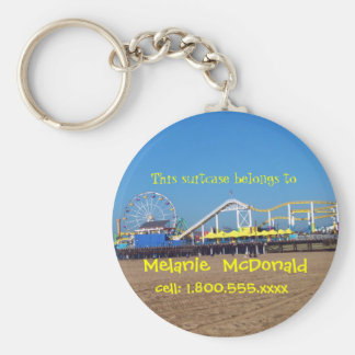 Santa Monica Pier Luggage Tag Keychain
