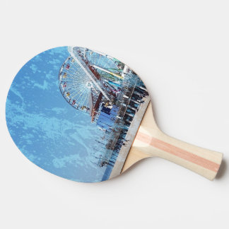 Santa Monica Pier Ping Pong Paddle