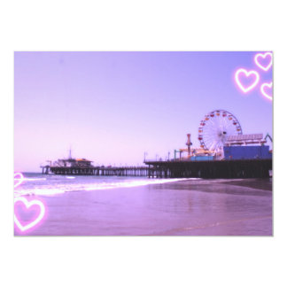Santa Monica Pier Purple Hearts Card