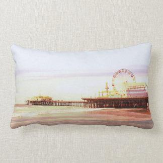 Santa Monica Pier Sunrise Lumbar Pillow