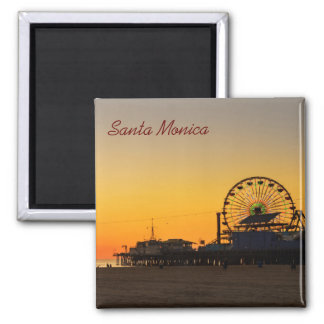 Santa Monica Pier Sunset Magnet