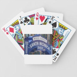 Santa Monica Venice Beach California Beach Holiday Bicycle Playing Cards