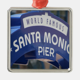Santa Monica Venice Beach California Beach Holiday Metal Ornament