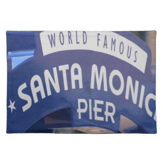 Santa Monica Venice Beach California Beach Holiday Placemat