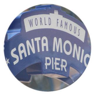 Santa Monica Venice Beach California Beach Holiday Plate