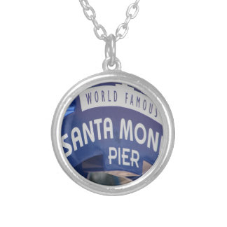 Santa Monica Venice Beach California Beach Holiday Silver Plated Necklace