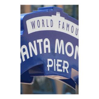 Santa Monica Venice Beach California Beach Holiday Stationery