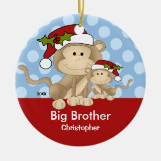 Santa Monkey Big Brother Christmas Ornament