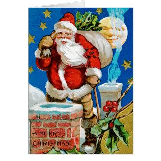 Santa Moon Card