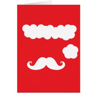 Santa Moustache Card