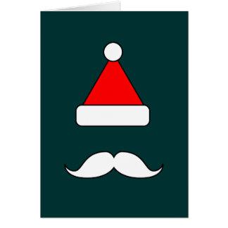 Santa Moustache Greeting Cards