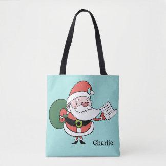Santa & Mrs. Claus custom name bags