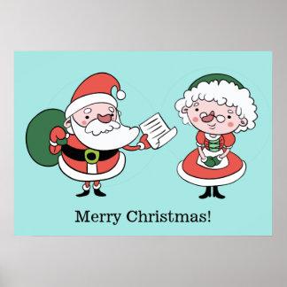 Santa & Mrs. Claus custom poster