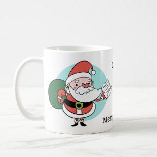 Santa & Mrs. Claus custom text mugs