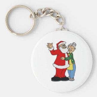 Santa & Mrs. Claus Keychain