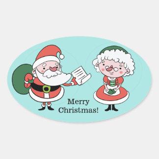 Santa & Mrs. Claus stickers