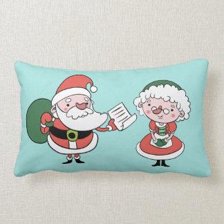 Santa & Mrs. Claus throw pillows