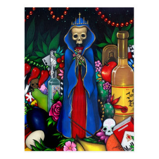 Santa Muerte POSTCARD Day of the Dead