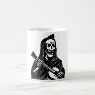 Santa Muerte with Guitar circa early 1900s Coffee Mug