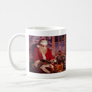 Santa Mug with magic book