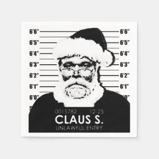 Santa Mugshot Paper Napkins