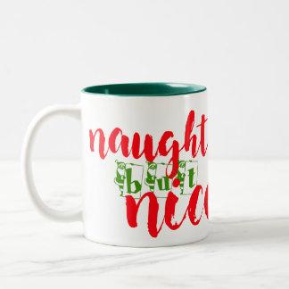 santa naughty but nice christmas decoration mug