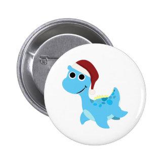Santa Nessie Buttons