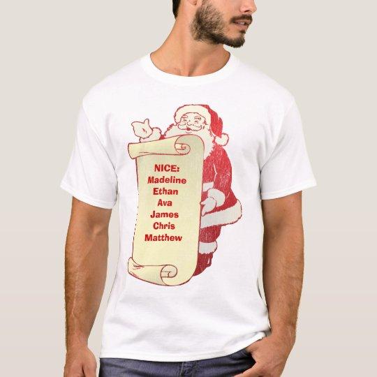 Santa' nicest list -Customized T-Shirt