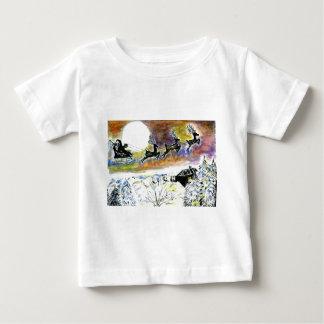 Santa Night Flight2 Baby T-Shirt