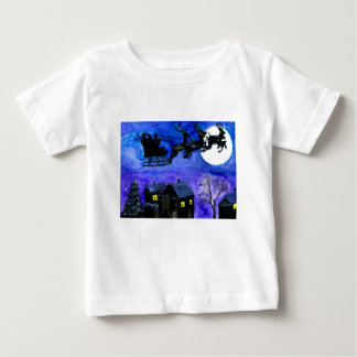 Santa Night Flight Baby T-Shirt