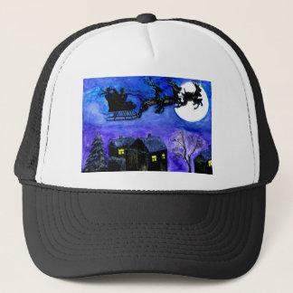 Santa Night Flight Trucker Hat