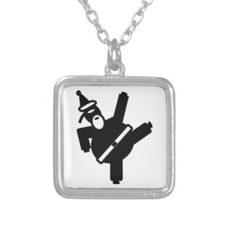 Santa Ninja Silver Plated Necklace