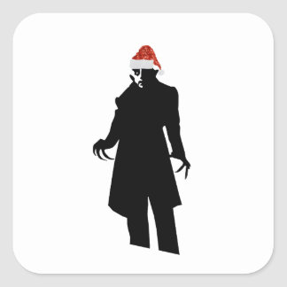 santa nosferatu square sticker