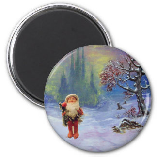 SANTA OF THE GNOMES Funny Christmas 2 Inch Round Magnet