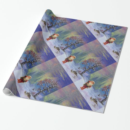 SANTA OF THE GNOMS WRAPPING PAPER
