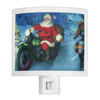 Santa on a motorcycle nitelight nite lites