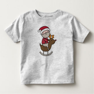 Santa on a Rudolph rocking horse! Toddler T-shirt