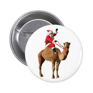 Santa On Camel Christmas Buttons