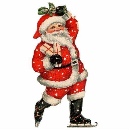 Santa on Ice Christmas Ornament Photo Cut Out