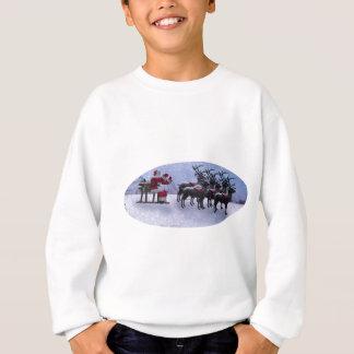 Santa on Sled with raindeers Sweatshirt