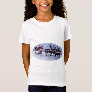Santa on Sled with raindeers T-Shirt